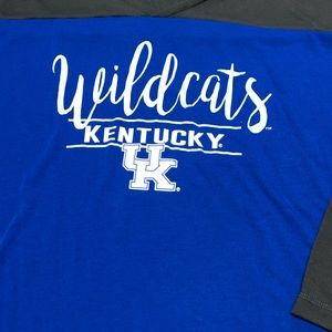bottom drawers Tops - Kentucky Wildcats 3/4 Long Sleeve Basketball Tee